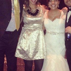 Lulus gold foil dress